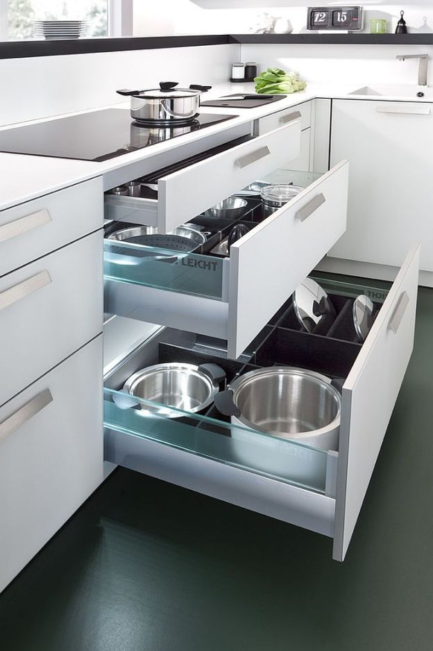 modern space-saving kitchen storage and shelving ideas