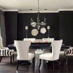 Black And White Living Room Furniture Ideas Ceiling Design How To Use Create A Stunning Refined Dining Lovely Of In The Kathleen Ramsey