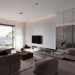 Mirrored Living Room Interior Designs Images 10 Rooms With A Wall View In Gallery Panels Modern