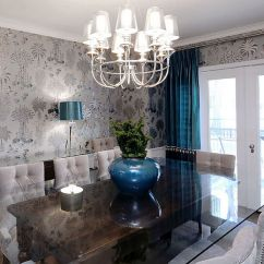 Gray And Turquoise Living Room Plum Colored Rooms 25 Elegant Exquisite Dining Ideas Refined With Blacks Royal Blue Accents Design Atmosphere Interior