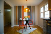 10 Dining Rooms with Snazzy Striped Accent Walls