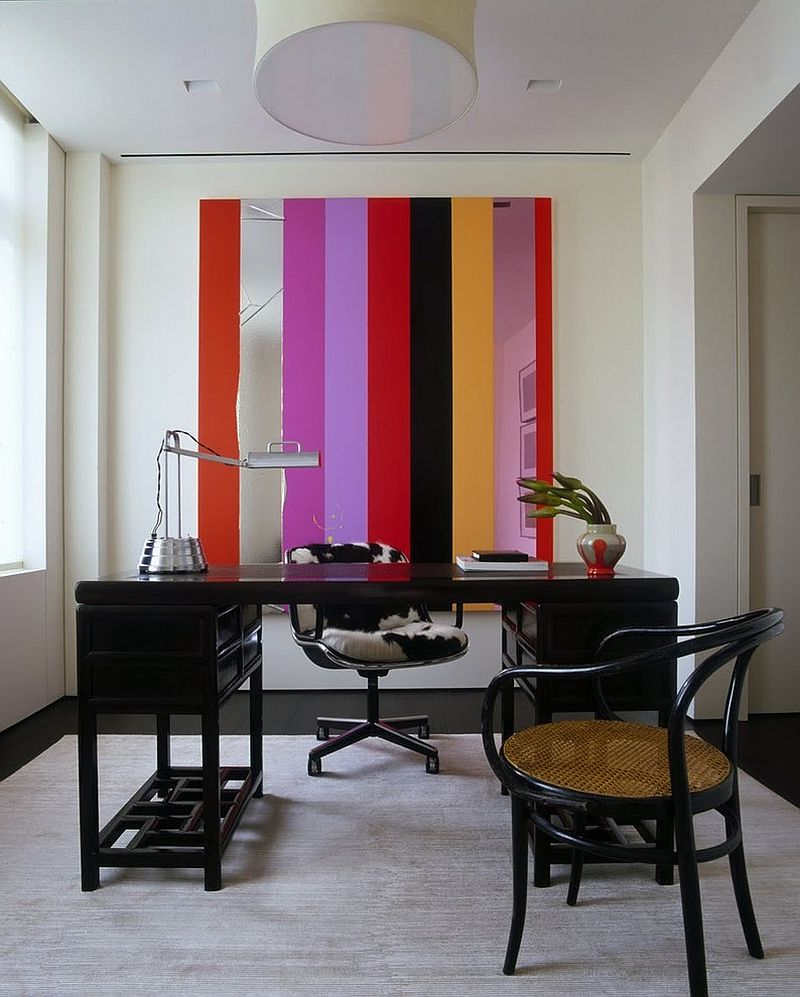 10 Striped Home Office Accent Wall Ideas, inspirations