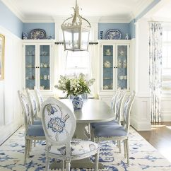 Blue And White Dining Chairs Graco Baby High Chair Rooms 18 Exquisite Inspirations Design Tips Beach Style Room In Classy Austin Patterson Disston Architects