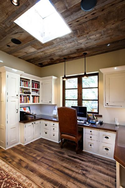 rustic home office design 20 Trendy Ideas for a Home Office with Skylights