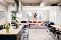 Cheerful Manhattan Loft Unleashes Color and Deft Creativity