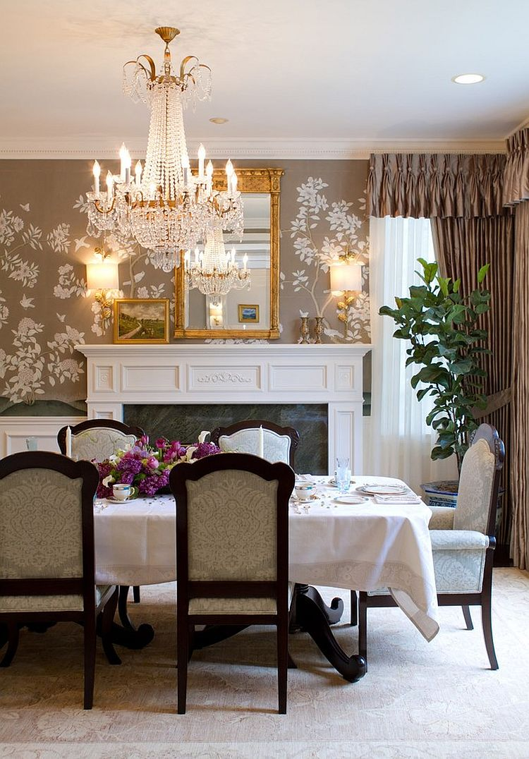 latest living room wallpaper designs modern table sets 27 splendid decorating ideas for the dining view in gallery create a lovely accent wall with beautiful design charmean neithart interiors