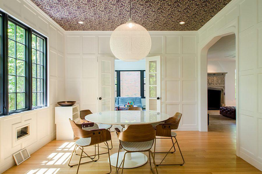 27 Splendid Wallpaper Decorating Ideas for the Dining Room