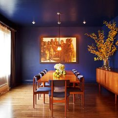 Blue Living Room Walls Affordable Designs India Dining Rooms 18 Exquisite Inspirations Design Tips For Those Who Absolutely Love Deep And Rich Edward