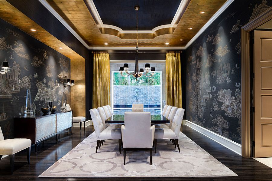 modern interior design living room black and white rooms with corner fireplaces decorating 15 refined ideas in glittering gold view gallery mediterranean dining vibe jauregui architect builder