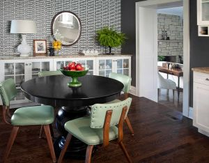 dining geometric designs modern interiors table pattern decor gray space decorate ccg chairs adds minimal summer decoration interior leather decorating