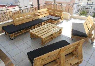 Pallet Patio Furniture Ideas Tutorial