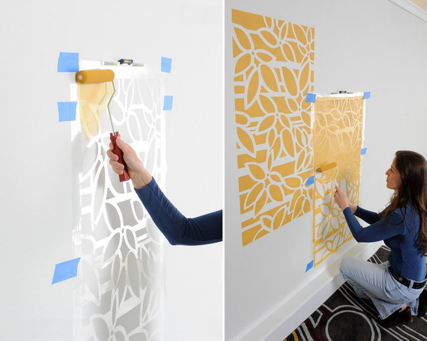 Make a Statement with Stenciled Walls