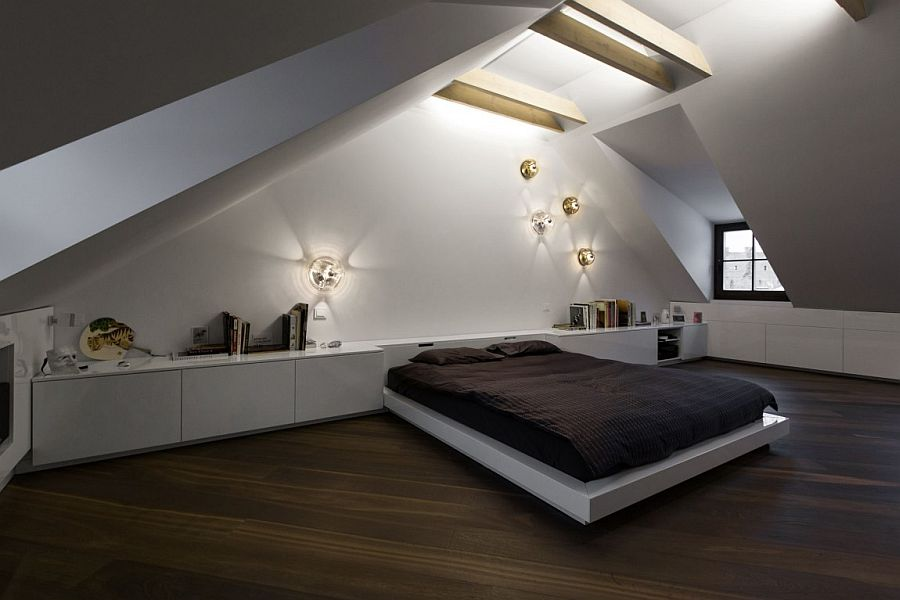 Small Modern Attic Apartment In Vilnius By By YCL Studio