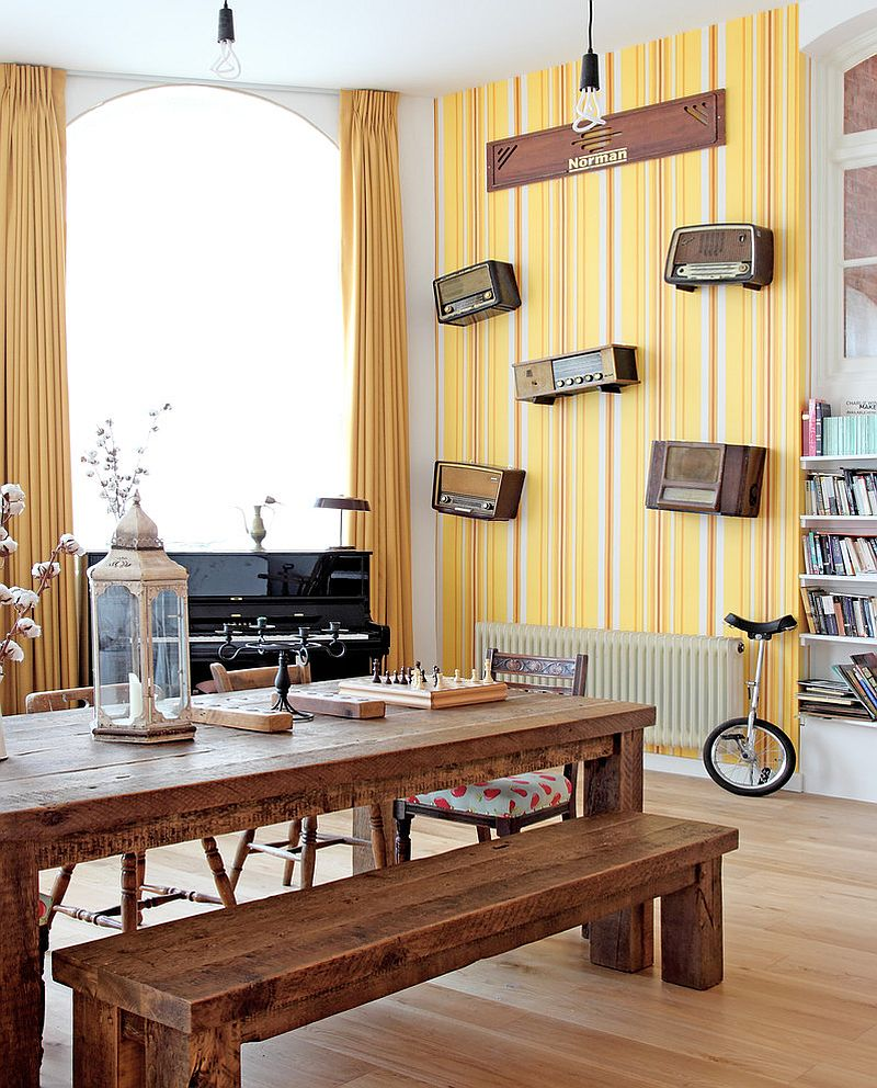 latest living room wallpaper designs elle decor small rooms 27 splendid decorating ideas for the dining view in gallery striped yellow modern design avocado sweets interior studio