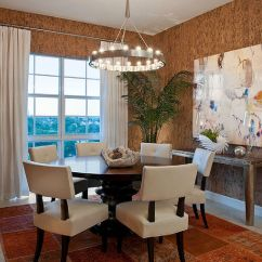 Best Wallpaper For Small Living Room Modern Wooden Ceiling Design 2016 27 Splendid Decorating Ideas The Dining Unique Brings Texture Of Cork To Garrison Hullinger