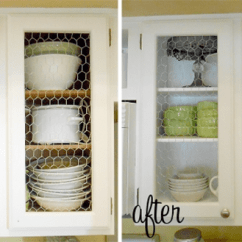Kitchen Cabinet Makeovers Cabinets Ideas 8 Low Cost Diy Ways To Give Your A Makeover View In Gallery Chicken Wire Before And After