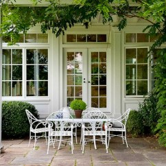 Antique Cast Iron Garden Table And Chairs Modern White Chair 10 New Ways To Think About Wrought For The Or Patio