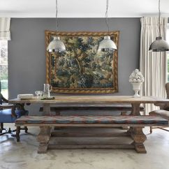 New Style Living Room Furniture Pictures Of Sofas 30 Unassumingly Chic Farmhouse Dining Ideas View In Gallery Replace The Traditional Chairs With Wooden Benches Design Vsp Interiors