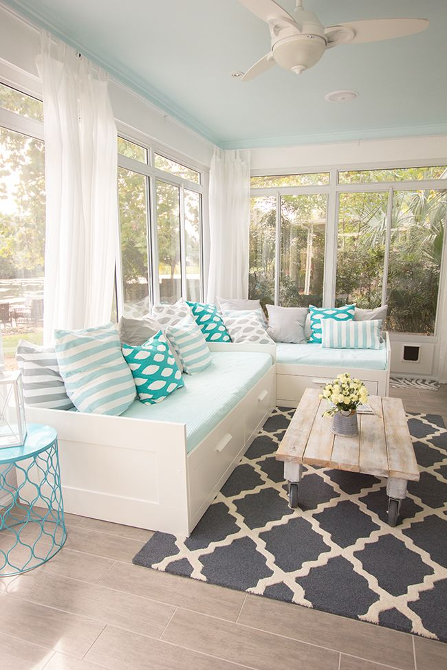diy wicker chair cushions kmart beach chairs with canopy 15 bright sunrooms that take every advantage of natural light