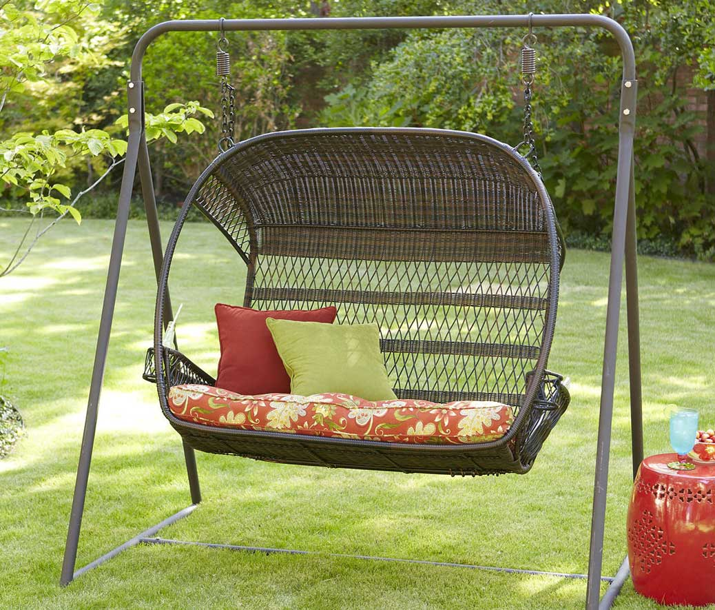 swingasan hanging chair antique windsor wonderful wicker pieces for upgraded outdoor entertaining