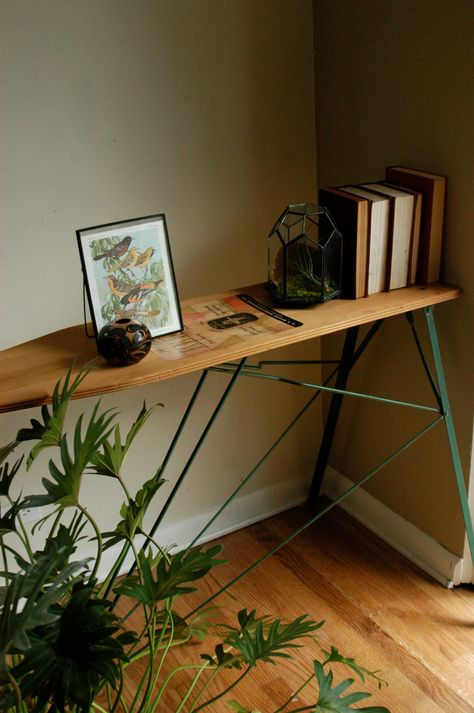 build kitchen table hammered copper backsplash turn a vintage ironing board into stunningly useful