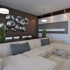 Modern Living Room Wall Art Grey Leather Couch Ideas 50 For A Moment Of Creativity View In Gallery Awesome Seems To Be Inspired By Liquid Mercury Design Svoya Studio