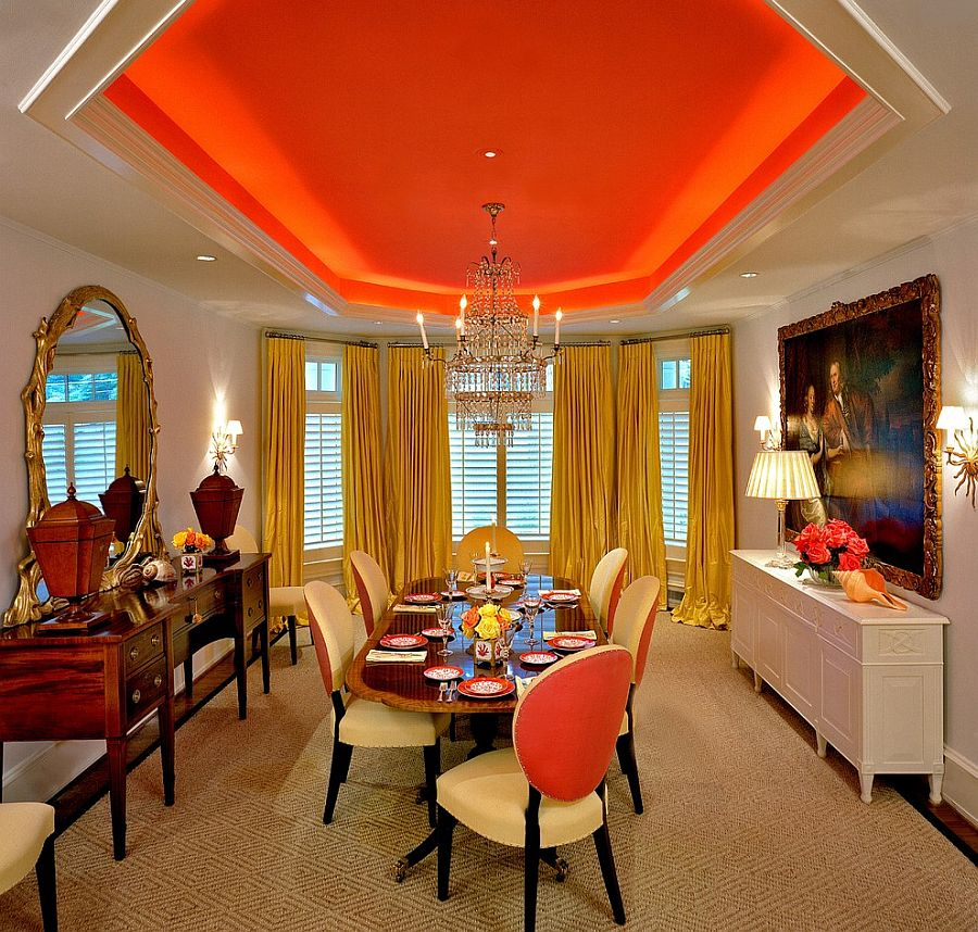 brown and orange living room aico 25 trendy dining rooms with spunky view in gallery bold hue for the ceiling design davis interiors