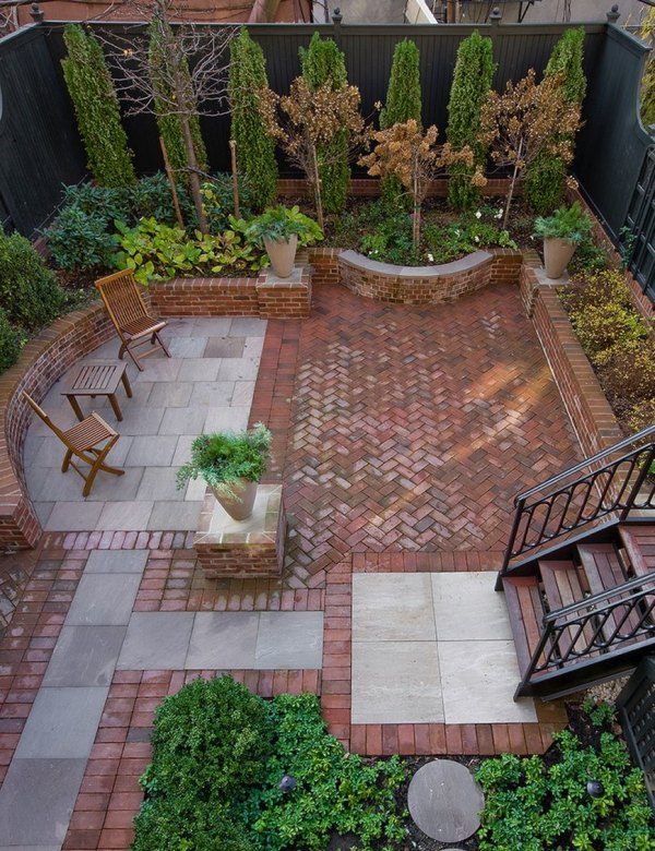 Brick Patios Small Backyards