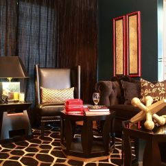 Navy Blue And Chocolate Brown Living Room Primitive Decorating Ideas For How To Use Dark Curtains Shape A Dramatic Cozy Interior Browns Steal The Show In This Eclectic Design Natalie Younger