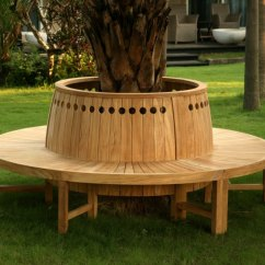 Patio Chair Feet Desk Wheels Tree Bench Ideas For Added Outdoor Seating