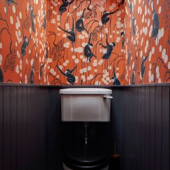 Kitchen Wallpaper Patterns Pop Up Electrical Outlets For Islands 10 Rooms Featuring Beadboard Paneling