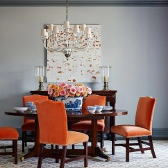 Wishbone Chairs Wicker Chair Cushions Australia 25 Trendy Dining Rooms With Spunky Orange