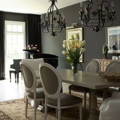Black And Beige Living Room Curtains Wall Painting Designs For How To Use Dark Shape A Dramatic Cozy Interior View In Gallery Sophisticated Traditional Dining With The Backdrop Design J Hirsch