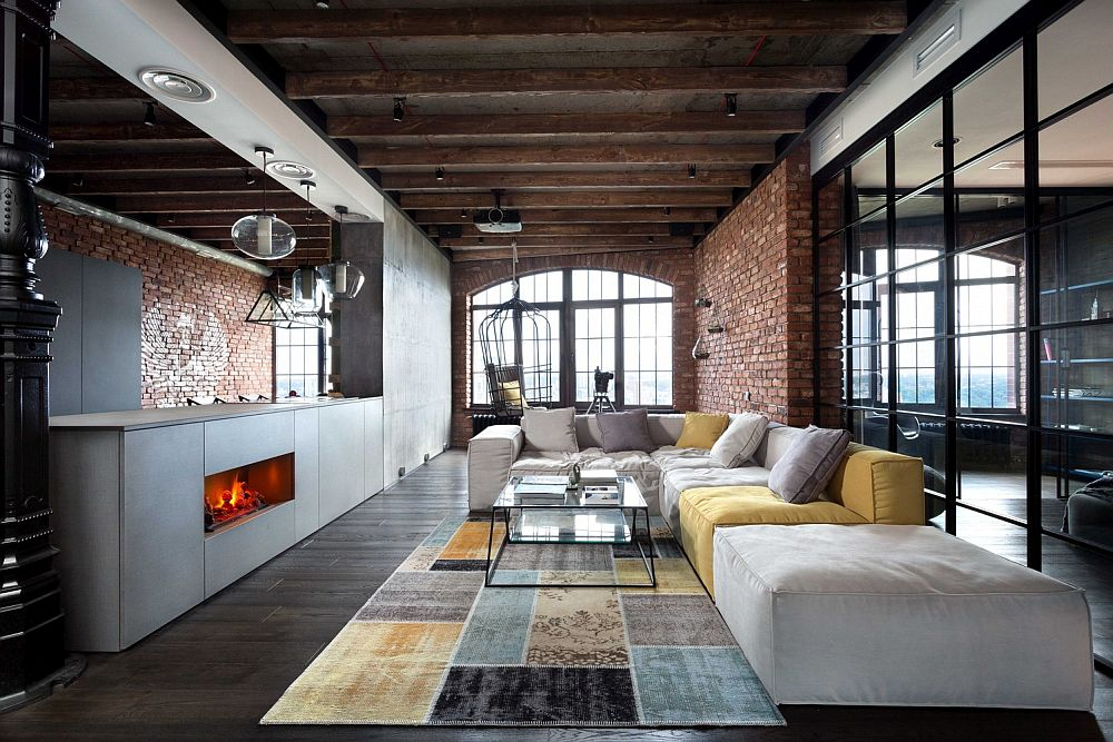 HighEnd Bachelor Pad Design Stunning Loft in Kiev by MARTINarchitects