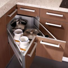 Kitchen Drawer Storage Canisters 30 Corner Drawers And Solutions For The Modern View In Gallery Butterfly Help Tuck Away Those Extra Pots Pans Design