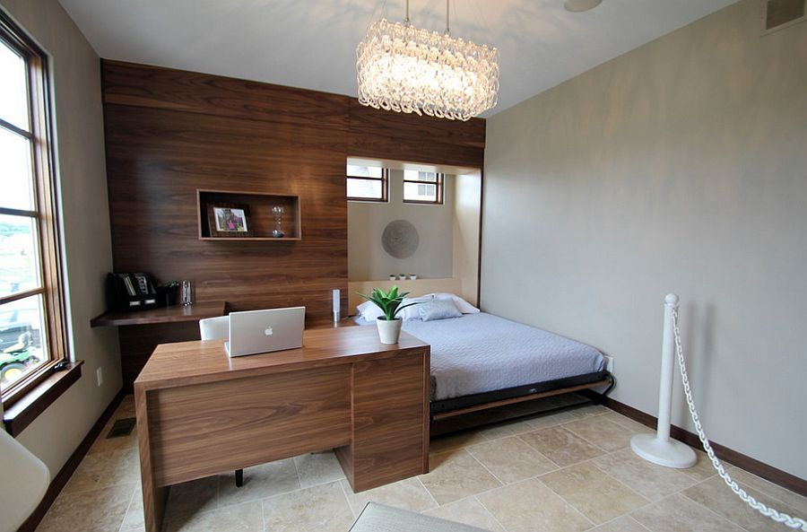 25 Versatile Home Offices That Double As Gorgeous Guest Rooms. Contemporary  Guest Bedroom Idea ...