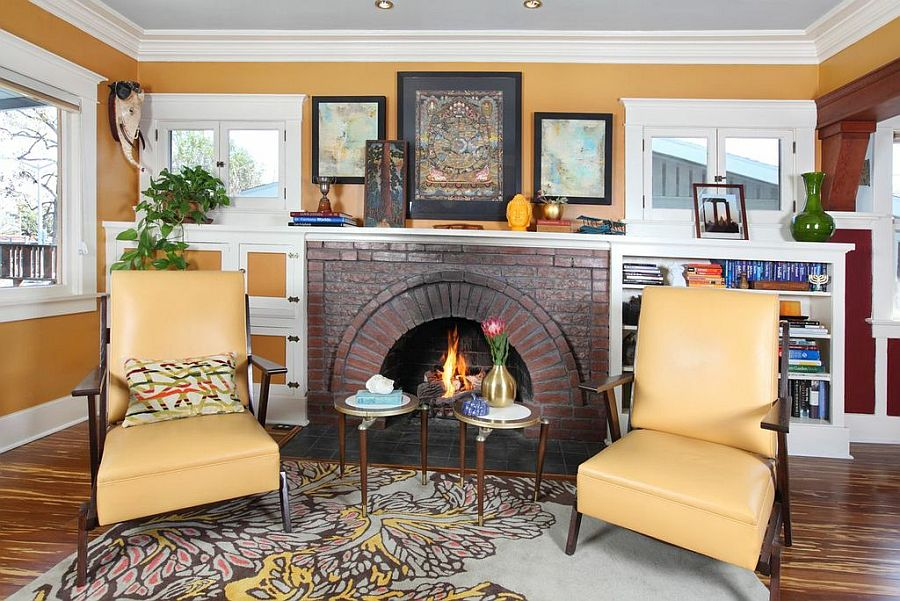 ... Living Room With Twin Chairs. 1918 Hollywood Craftsman Bungalow Gets A  Curated Eco Friendly Part 76