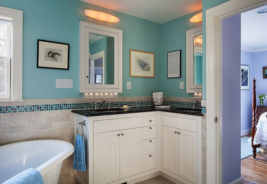 Corner Vanity Bathroom