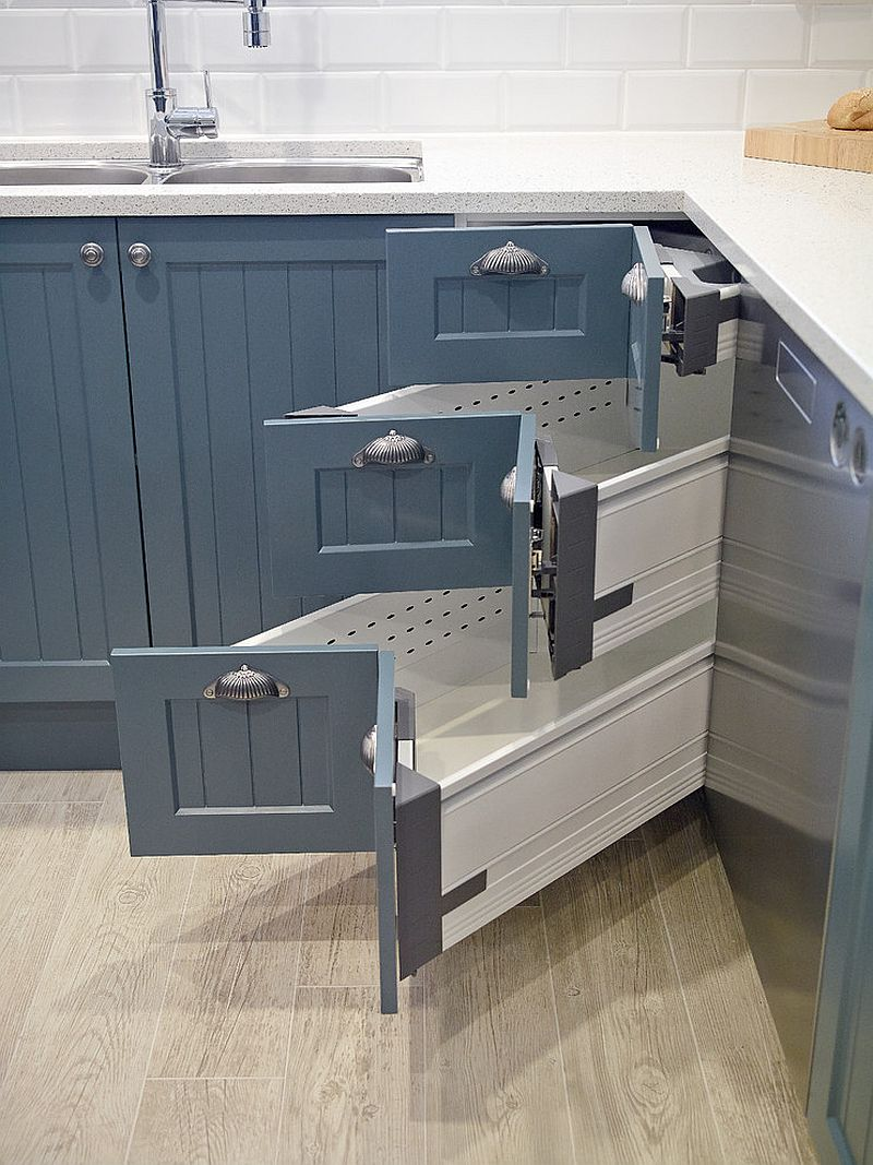 Best Kitchen Gallery: 30 Corner Drawers And Storage Solutions For The Modern Kitchen of Kitchen Cabinet Corner Drawers on cal-ite.com