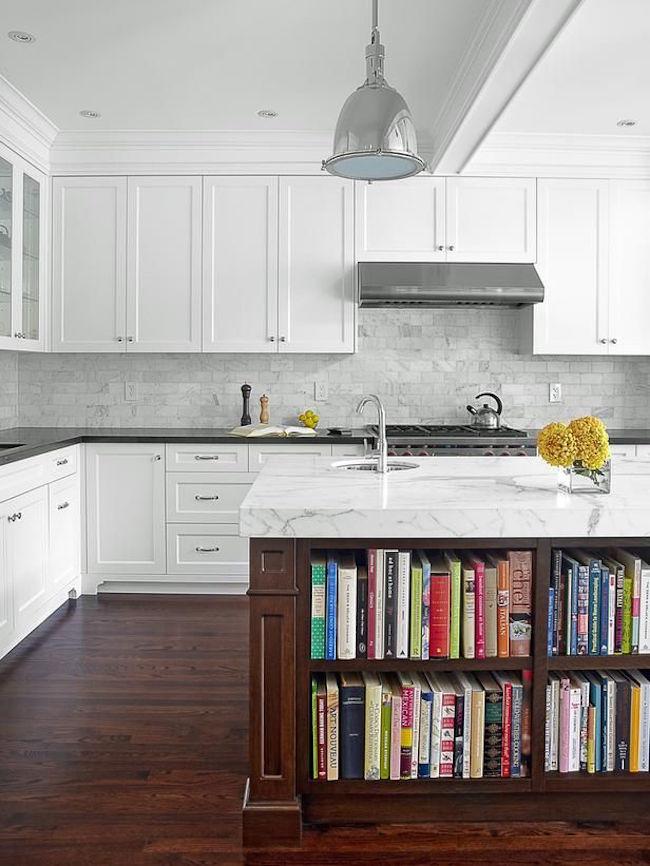 unique kitchen ideas for storing cookbooks