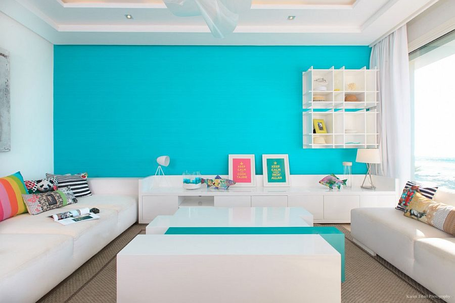 turquoise accents for living room kid friendly design ideas vivacious home overlooking the atlantic by kanza ben cherif