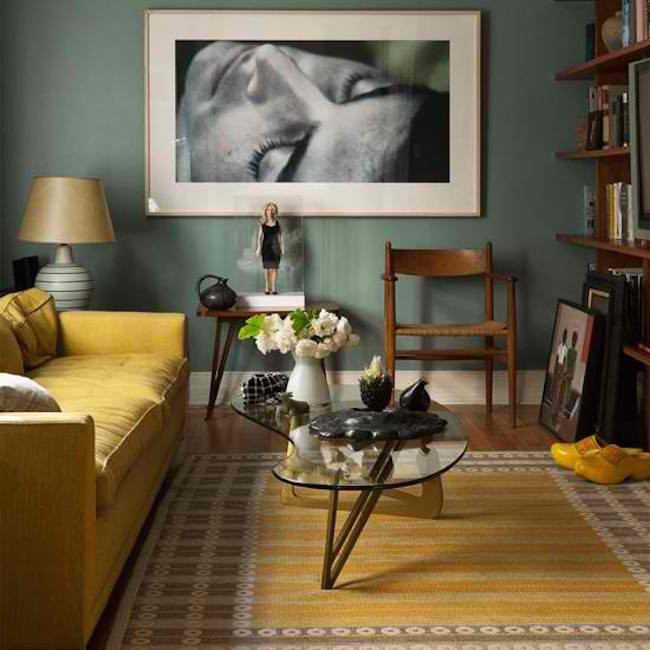 yellow and gray rug for living room l shaped couch in 25 carpet ideas to brighten up any view gallery mustard sofa a warm theme