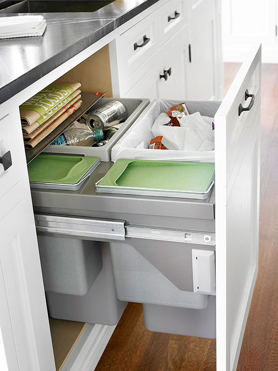 3 compartment kitchen sink padded mats 8 ways to hide or dress up an ugly trash can