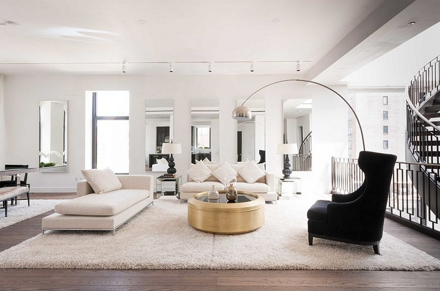 Decor 101: Black, White and Gold Living Room {with tribal ...