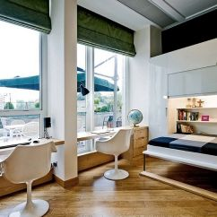 Murphy Bed In Small Living Room Art Pictures For 25 Versatile Home Offices That Double As Gorgeous Guest Rooms View Gallery The Office Folds Away Into Wall Design Ample