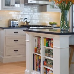 Kitchen Bookshelf Commercial Ventilation 15 Unique Ideas For Storing Cookbooks View In Gallery Small Shelves Built Into Island Books And Accessories