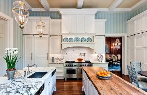 kitchen striped walls traditional backdrop wall eberlein stripes soothing cabinets range backsplash decor country renovation dear consultants near painted creates