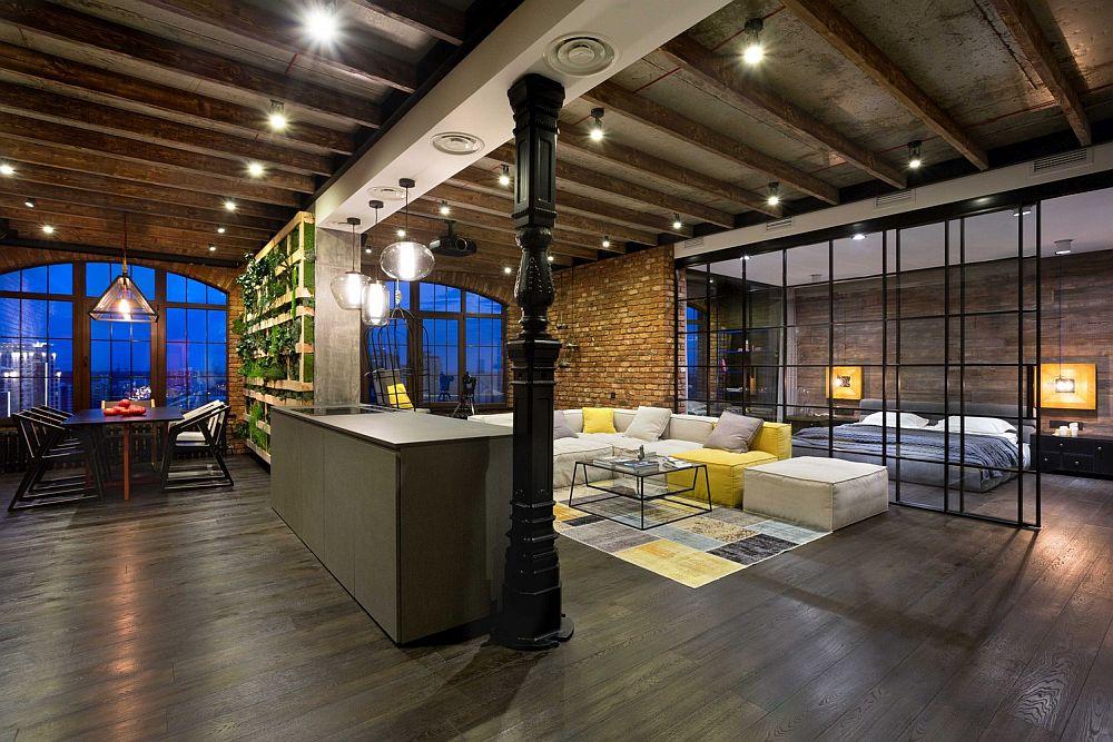 HighEnd Bachelor Pad Design Stunning Loft in Kiev by MARTINarchitects