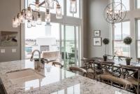 White ice granite in an eclecic kitchen - Decoist