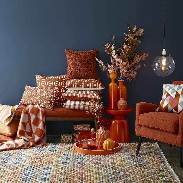 Wainscoting brings an elegant, interesting element to your living room. Sleek Fall Colors for the New Season